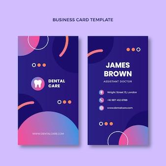 Gradient medical business card vertical