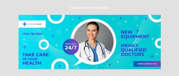 グラデーション医療フェイスブックカバー