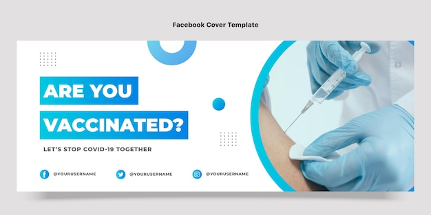 Gradient medical facebook cover template