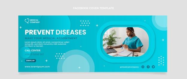 Градиентная медицинская обложка facebook