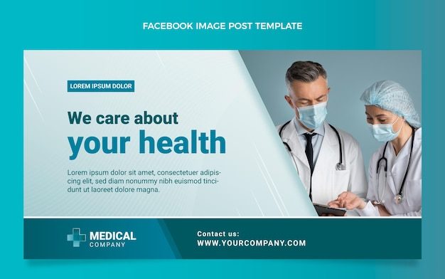 Post di facebook medico sfumato