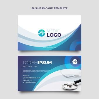 Gradient medical horizontal business card template