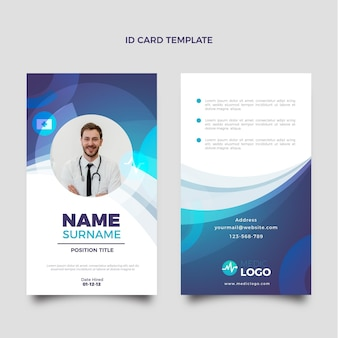 Gradient medical id card template