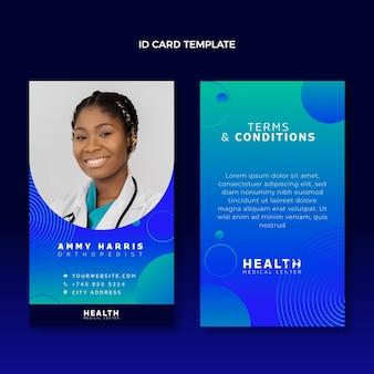 Gradient medical id card