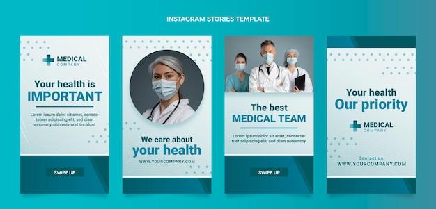 Gradient medical ig stories set