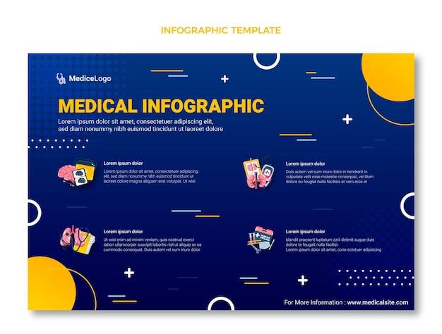 Градиентная медицинская инфографика