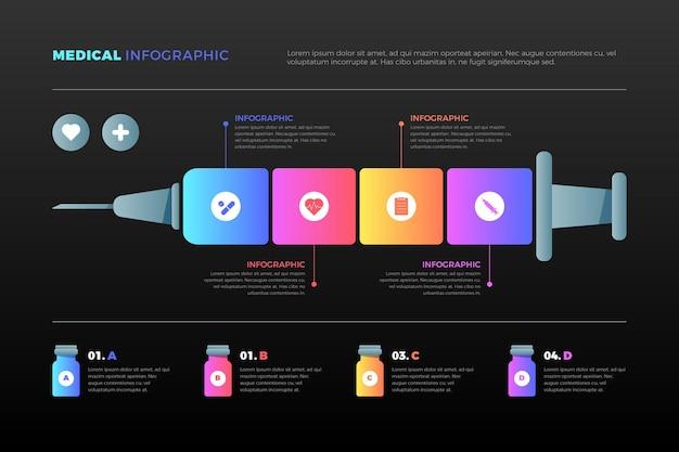 Gradient medical infographics
