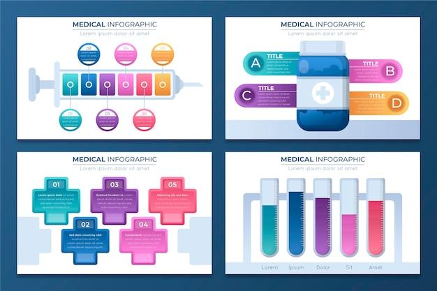Infografica medica gradiente