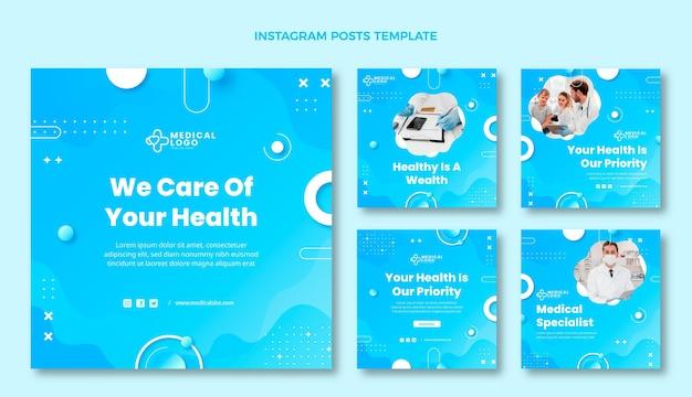 그라데이션 의료 인스타그램 게시물