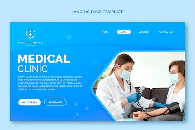 Pagina di destinazione medica sfumata