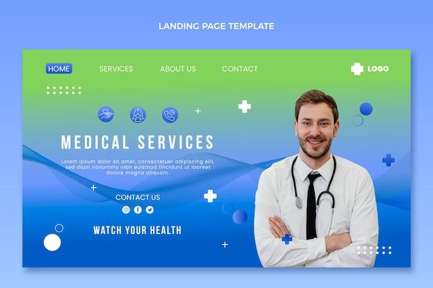 グラデーション医療ランディングページ