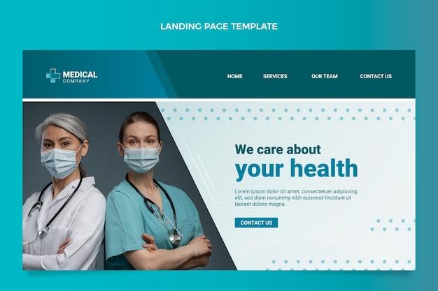 Gradient medical landing page