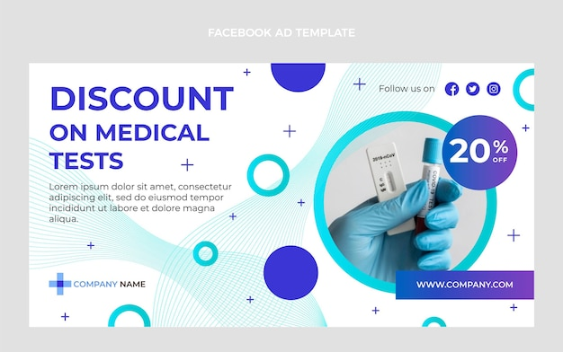 Modello facebook per test medici sfumati