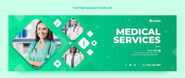 Intestazione twitter medica sfumata
