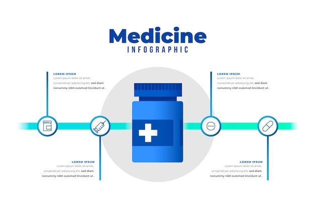 그라데이션 의약품 인포 그래픽