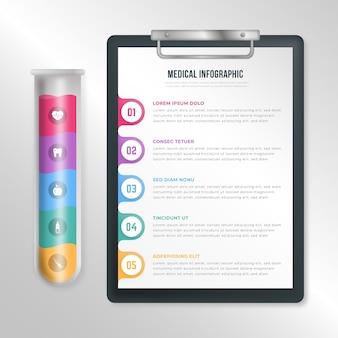 Infographics di farmaci gradiente