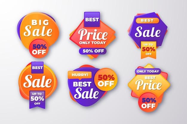 Gradient mega sale labels