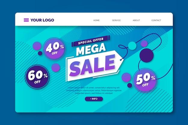 Gradient mega sale landing page