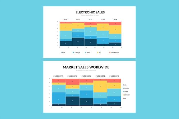 Gradient mekko chart inforgaphic