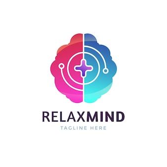 Gradient mental health logo template