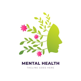 Gradient mental health logo template