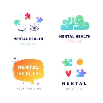 Gradient mental health logos collection