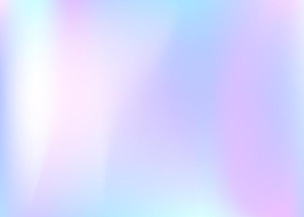 グラデーションメッシュの抽象的な背景。グラデーションメッシュのカラフルなホログラフィック背景。 90年代、80年代のレトロなスタイル。パンフレット、バナー、壁紙、モバイル画面の虹色のグラフィックテンプレート。