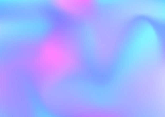 그라디언트 메쉬 추상적인 배경입니다. 그라디언트 메쉬가 있는 네온 홀로그램 배경입니다. 90년대, 80년대 레트로 스타일. 브로셔, 전단지, 포스터 디자인, 벽지, 모바일 화면에 대한 무지개 빛깔의 그래픽 템플릿.