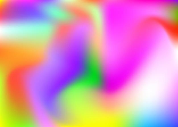 그라디언트 메쉬 추상적인 배경입니다. 그라디언트 메쉬가 있는 트렌디한 홀로그램 배경입니다. 90년대, 80년대 레트로 스타일. 브로셔, 배너, 벽지, 모바일 화면용 진주빛 그래픽 템플릿.