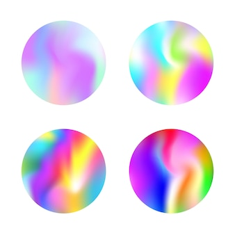 Gradient mesh abstract backgrounds set