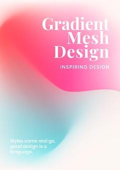 Vettore di modello di maglia gradiente per poster