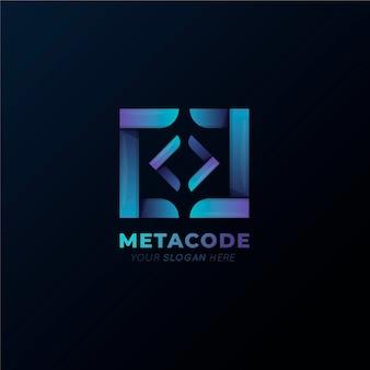 グラデーションメタコードロゴ