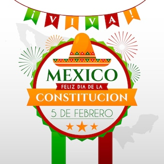 Gradient mexico constitution day