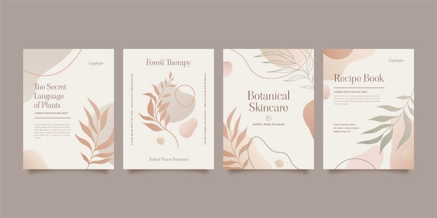 Gradient minimal hand drawn covers collection