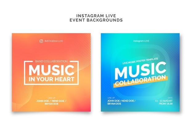 Градиент современного фона социальные медиа live Premium векторы