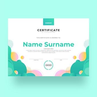 Gradient modern certificate of achievement template