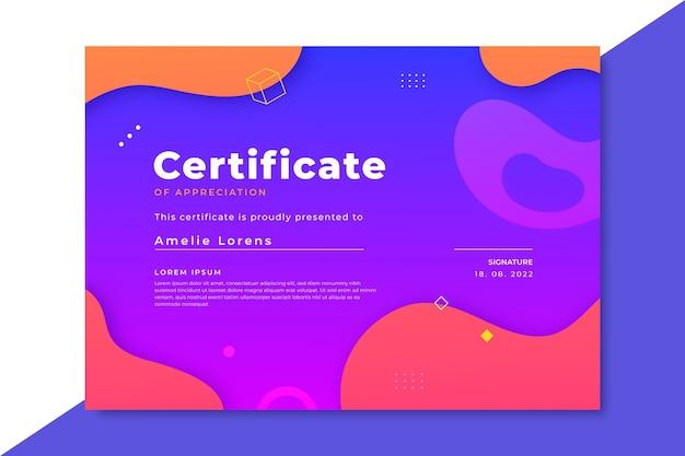 Gradient modern certificate template