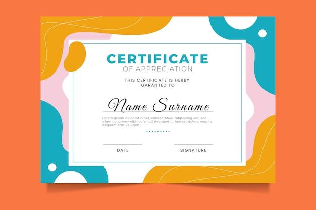 Certificato moderno sfumato