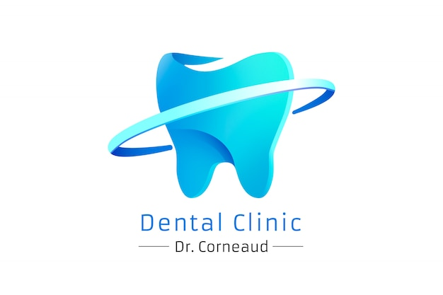 Gradient modern logo of a dental clinic,