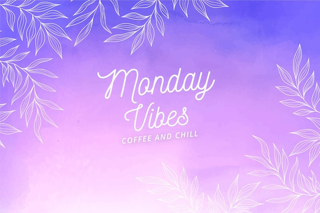 Gradient monday vibes background