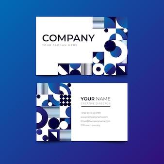 Gradient mosaic business card template