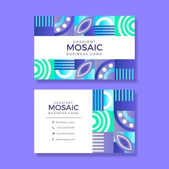 Визитная карточка градиентной мозаики