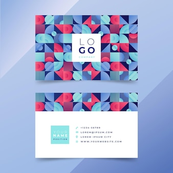 Gradient mosaic business card