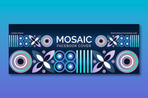Gradient mosaic facebook cover