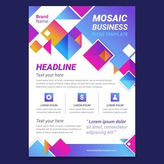 Gradient mosaic flyer template