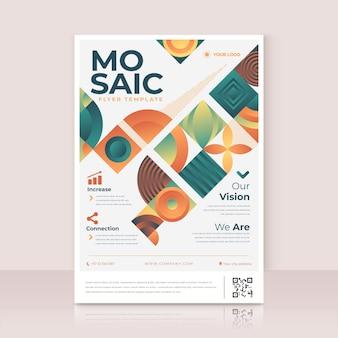 Gradient mosaic flyer