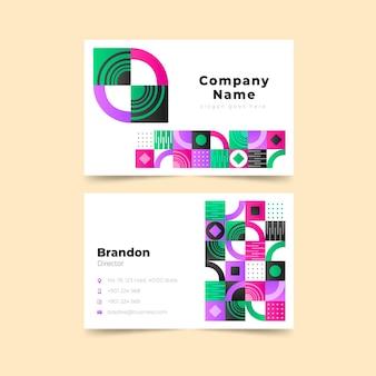 Gradient mosaic horizontal business card template