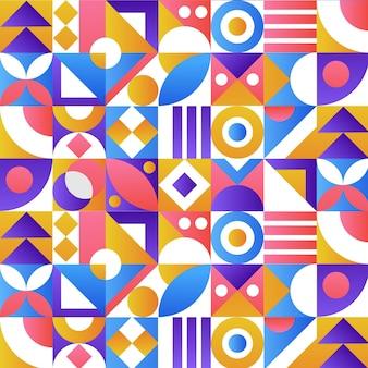 グラデーションモザイクパターンデザイン