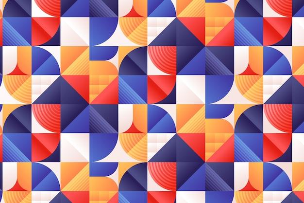 Gradient mosaic pattern