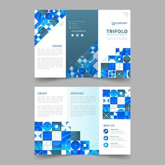 Шаблон брошюры с градиентной мозаикой